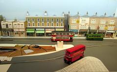 Progress around the Square. (kingsway john) Tags: building london scale layout coach model transport models tram card kits oo greenline gauge tramway kingsway 176 oogauge stlbus 10t10
