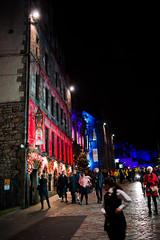 Edinburgh Castle Street (HarveyNewman) Tags: night canon scotland colorful edinburgh time fireworks mark iii scottish newyear celebration hogmanay scotish 2015
