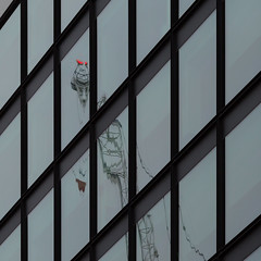doggie in the window (mjwpix) Tags: windows reflection building crane doggieinthewindow ef135mmf2lusm canoneos5dmarkiii michaeljohnwhite mjwpix