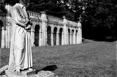 Beheaded at Crystal Palace park (vkrontals) Tags: park film statue nikonf100 crystalpalace decapitated beheaded ilfordhp5400 nikon50mmf14d ilfosol3