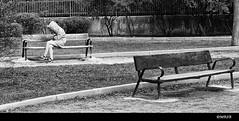 En soledad (Mar Sanz Bernal) Tags: parque monocromo banco invierno soledad frío espera