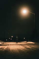 Streetlight (HurleyCommaJon) Tags: winter snow film broken night streetlight moody f100 creepy exploration