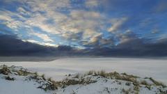 No. 1040 Råbjerg dunes winter sunrise (H-L-Andersen) Tags: winter sky snow clouds sunrise denmark dunes sunrays råbjergmile cloudscapes manfrotto 6d råbjerg landoflight canoneos6d hlandersen