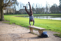 Le poirier (Fredouce) Tags: park green gym parkour headstand rambouillet poirier