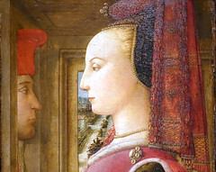 Lippi, Portrait of a Man and Woman at a Casement (detail), c. 1440