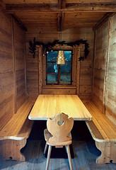 Table. (*Valentina.) Tags: travel winter window table chairs details january resort finestra chalet dettagli inverno sedie tavolo viaggio gennaio baita passosella
