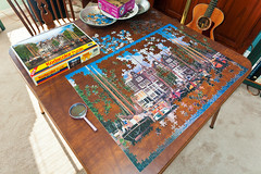 Amsterdam puzzle progress (hz536n/George Thomas) Tags: winter copyright oklahoma amsterdam puzzle canon5d stillwater kodacolor jigsawpuzzle 2016 roseart ef1740mmf4lusm georgethomas
