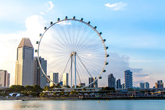 Singapore Flyer (theblueraindrop) Tags: city travel landscape singapore asia singaporeflyer