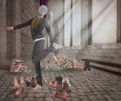 what to pick? (drayton.miles) Tags: shoes magic dick bob sl secondlife pile second bobby miles mm fairies hogwarts mischief gnomes slytherin managed hufflepuff gryffindor ravenclaw