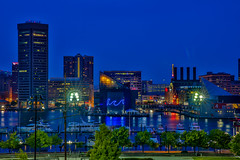 Baltimore MD (Bill Varney) Tags: city light color reflection building tree water architecture cityscape outdoor maryland baltimore billvarney
