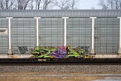 Tead (quiet-silence) Tags: railroad art train graffiti railcar graff ra tst freight wh pw droids autorack fr8 tead wafact