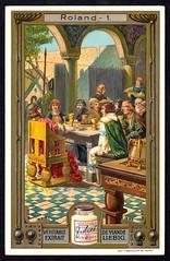 Liebig Tradecard S909 - The Legend of Roland (cigcardpix) Tags: vintage advertising ephemera liebig chromo tradecards