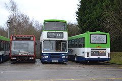 Trent Barton 16 M214VSX & 137 M137PRA (Will Swain) Tags: uk travel england bus english mill buses yard britain derbyshire garage transport january vehicles trent vehicle depot barton 16 24th langley nottinghamshire lothian 137 214 2016 bartons wellglade m214vsx m137pra