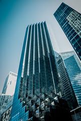 Movin' On Up (unflux) Tags: nyc newyorkcity blue newyork reflection building skyscraper jefferson tall movin