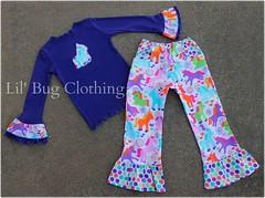 unicorn (Lil' Bug Clothing) Tags: girls unicorn tee pant