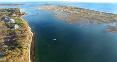 Oyster River and Harding's Beach Aerial (Chris Seufert) Tags: lighthouse river capecod aerial chatham oyster aerials drone hardingsbeach