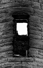 tower window (severalsnakes) Tags: door building church window stone architecture fire ruins pentax burn missouri destroyed rubble ks2 sedalia pentaxm2004 saraspaedy