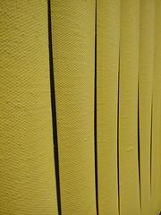 Tagli nella tela di Fontana (miriamviganofficial) Tags: detail art yellow paint artist artgallery fontana tagli studioprospettico