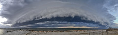 St. Patty's Day Shelf Cloud - ARMAGEDDON! (brucetopher) Tags: weather cloud clouds rollcloud shelfcloud ominous scary armageddon doomsday beach sky weatherfront squall storm stormy skies water ocean sea atlantic coast coastal seashore 7dwf