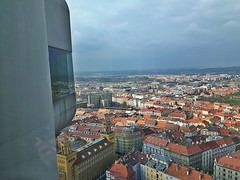 View from ikov Television tower in Prague, Czech Republic. March 23, 2016 (Vadiroma) Tags: city buildings europe czech prague capital praha televisiontower 2016 ikov esko