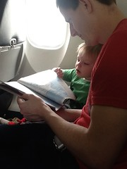 "Paul and Daddy Read the In-Flight Magazine on Paul's First Plane Ride • <a style=""font-size:0.8em;"" href=""http://www.flickr.com/photos/109120354@N07/25447365743/"" target=""_blank"">View on Flickr</a>"