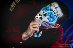 Caio (SoloImmagine) Tags: face painting mexico skeleton skull paint mexican diadelosmuertos rosso calavera calaca