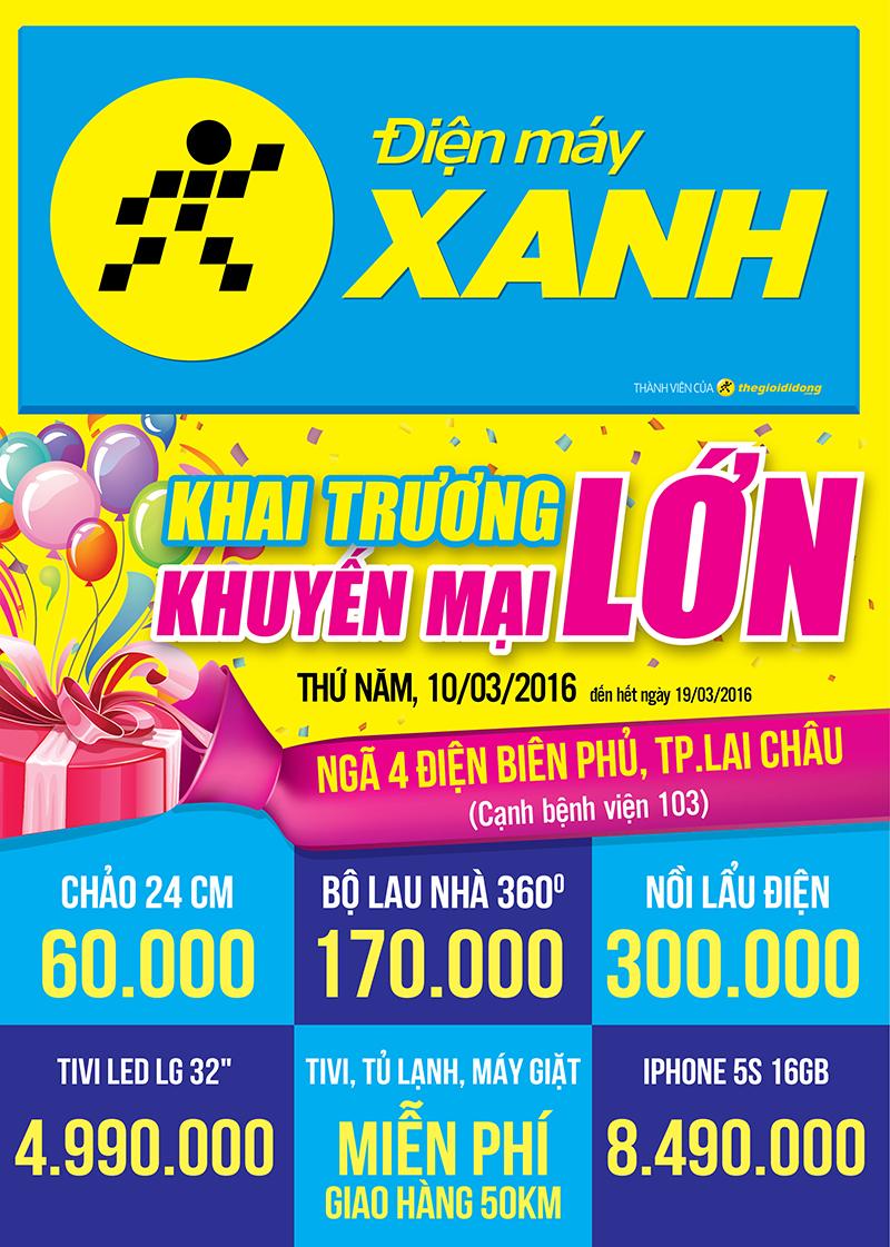 Tưng bừng khai trương siêu thị Điện máy XANH Lai Châu Điện Biên Phủ