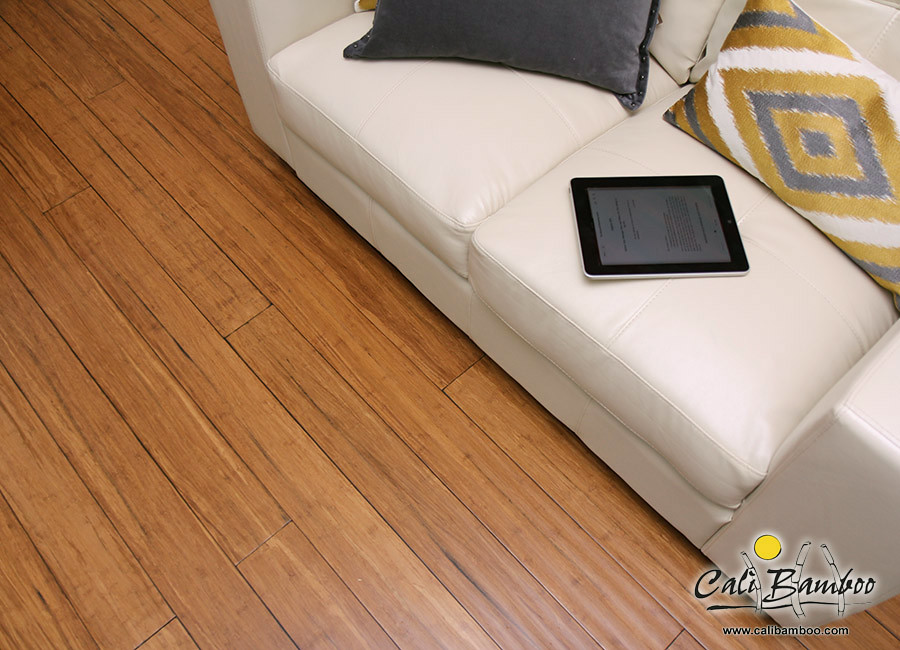 Sample Mocha Fossilized Wide T/&G Bamboo Flooring