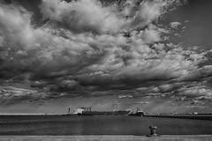 Black sea (klic_ros) Tags: sea sky bw seascape blancoynegro clouds canon puerto photography mar photo ngc negro cielo nubes nube castellon airelibre monocromático vinaros sigma1750