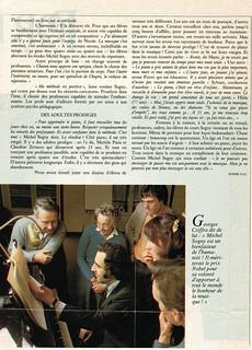 MICHEL SOGNY PRESSE MARIE FRANCE SUITE  JUIN 1984