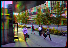 Dundas Street 3-D ::: HDR/Raw Anaglyph Stereoscopy (Stereotron) Tags: street people urban sun toronto ontario canada window america radio canon eos evening stereoscopic stereophoto stereophotography 3d downtown raw control north citylife streetphotography kitlens twin anaglyph financialdistrict stereo stereoview to remote spatial 1855mm hdr province redgreen tdot 3dglasses hdri transmitter stereoscopy synch anaglyphic optimized in threedimensional hogtown stereo3d thequeencity cr2 stereophotograph anabuilder thebigsmoke synchron redcyan 3rddimension 3dimage tonemapping 3dphoto 550d torontonian fancyframe stereophotomaker stereowindow 3dstereo 3dpicture 3dframe anaglyph3d yongnuo floatingwindow stereotron spatialframe