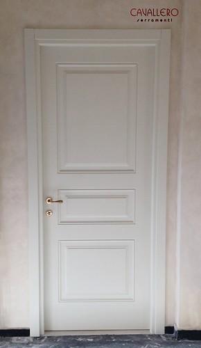 Porta pantografata Linea Opera a tre pannelli