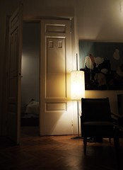 1233 kilometers away (BadMoodyNurse) Tags: door light color colour home lights bed bedroom doors shadows apartment flat room visit indoors inside absent