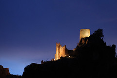Castillo de La Iruela (davidpemberton78) Tags: castle night la spain moorish jaen fortress cazorla iruela floodlighting