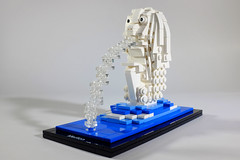 Merlion, Singapore (VisualJournalist) Tags: brick architecture singapore lego bricks winner vomit merlion moc afol singa microscale miniscale