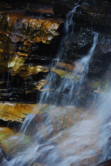 Sandstone Waterfall (stoelting.chris) Tags: park blue cliff mountains fall water rain creek forest river waterfall spring rainforest sydney australia national cascades nsw