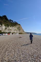A Walk on the Beach (grahamjbennett) Tags: beer coast eastdevon fujixpro2 16mmf16wr