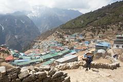 Namche Bazaar (D A Scott) Tags: bridge nepal camp mountains trek asia lakes bazaar everest base himalayas gokyo namche