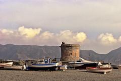 Barcas y Torren (Salvador Ruiz Gmez) Tags: mar andaluca playa barcas almera mediterrneo parquenaturalcabodegatanjar sanmigueldecabodegata
