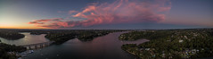 Georges River - Como (alexkess) Tags: sunset panorama como river au 4 sydney australia nsw newsouthwales phantom georges sutherlandshire dji