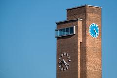 Coming To An End (photosam) Tags: blue england brick london tower clock architecture raw unitedkingdom greenwich telephoto highrise fujifilm tall modernist lightroom xe1 fujifilmx xc50230mmf4567ois xc50230mm14567ois