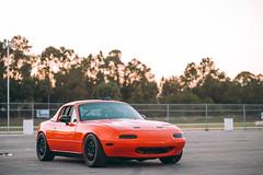 Shop Miata Shakedown (Ricky Flores) Tags: orange black heritage car race racecar lava momo automobile wheels nasa porsche mazda miata motorsport scca mazdaspeed fara lavaorange