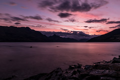 Queenstown (lomerle92) Tags: longexposure travel pink sunset newzealand mountain lake nikon queenstown aroundtheworld