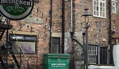 Bottles (StevenParsons42) Tags: uk england beer heineken yorkshire bricks hanging knaresborough buidling