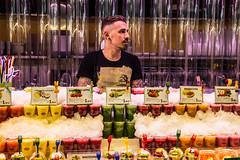 Take Your Pick (AlexTalmaciu) Tags: barcelona street fruit canon eos spain 1750 tamron boqueria salesman 60d
