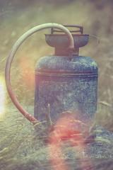 One Man's Trash (Prestidigitizer) Tags: old vintage junk antique lightleak homestead discarded decrepit powellriver sprayer pentaxda50135mm pentaxk3