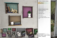 [Pauline] Drawer shadow boxes | Lost & Found (Sway Dench / Sway's) Tags: plant furniture cups drawer decor sheld sways