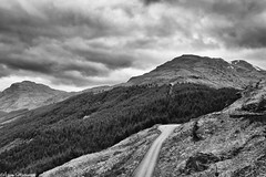 Glen Croe - Ben Donich (AdamMatheson) Tags: blackandwhite bw mountain mountains monochrome canon landscape mono scotland blackwhite nationalpark scenery scottish scene 7d corbett restandbethankful lochlomondnationalpark a83 scottishlandscape argyllbute glencroe canonef24105mmf4lisusm bendonich canon24105l scottishmountain canonef24105f4lisusm canoneos7d canon7d canoneos24105f4lisusm adammatheson adammathesonphotography