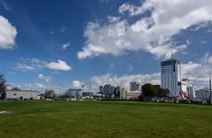 The CBD (Jocey K) Tags: newzealand christchurch sky architecture clouds buildings demolition digger