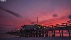 sunset beach- (www.facebook.com/h0bieph0t0) Tags: longexposure sunset sky beach gulfofmexico water clouds landscape pier sand nikon florida shore d750 gulfcoast redingtonlongpier